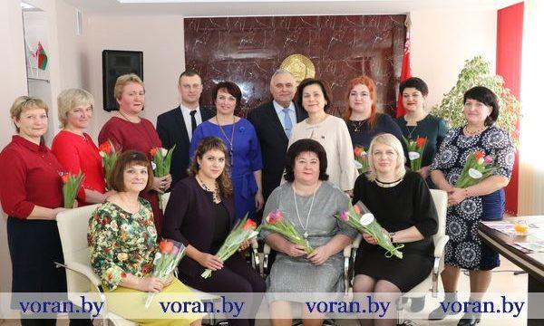 В Вороновском райисполкоме в канун 8 Марта чествовали лучших женщин района